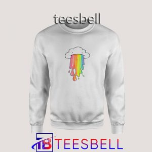 Sweatshirt Cloud Overlay Rainbow