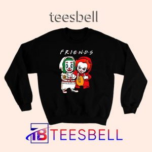 Baby Joker and Pennywise Sweatshirt Halloween Horror Friends S – 3XL