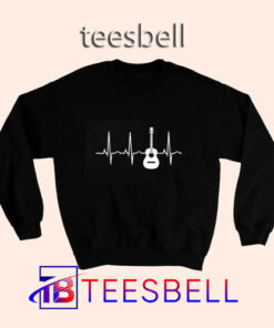 Acoustic Guitar Heartbeat Sweatshirt